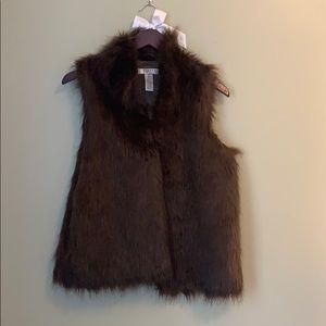Kenar Brown Faux Fur Vest
